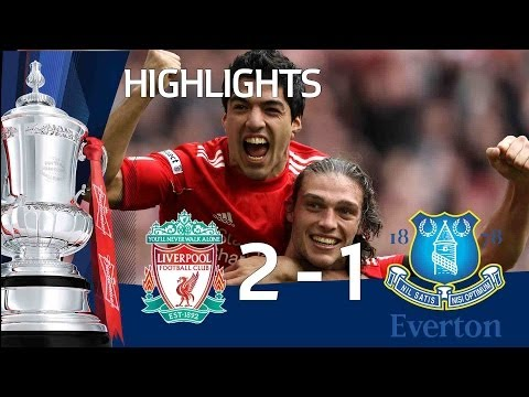 Liverpool 2-1 Everton - Jelavic, Suarez &amp; Carroll goals and Official highlights | FA Cup 15-04-12