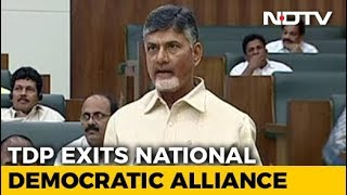 Chandrababu Naidu's Party Quits NDA Over Andhra Special Status Row - NDTV
