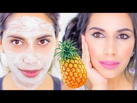DIY Pineapple GLOWING SKIN Face Mask Pack Natural Skin Care Home Remedy