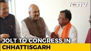 Major Setback For Congress In Chhattisgarh, Senior Leader Joins BJP - NDTV
