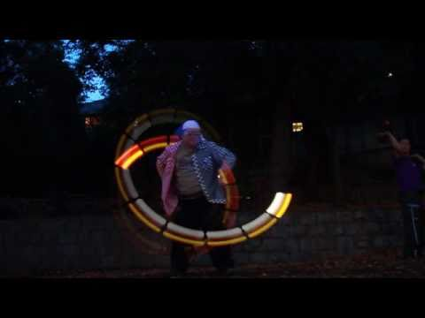 LED POI Echo Effect Test at Inokashirapoi