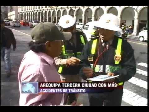Arequipa es la tercera ciudad con mayor cantidad de accidentes fatales