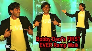 Watch Bobby Deol's FIRST EVER Ramp Walk - BOLLYWOODCOUNTRY