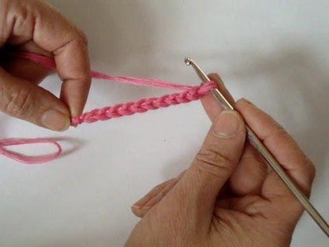 Вязание крючком - Цепочка из воздушных петель