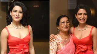 Samantha Akkineni with Her Mother Ninette Prabhu At Oh Baby Pre Release Event - RAJSHRITELUGU