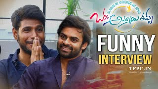 Sai Dharam Tej and Sundeep Kishan Funny Discussion About Okka Ammayi Thappa Movie | TFPC - TFPC