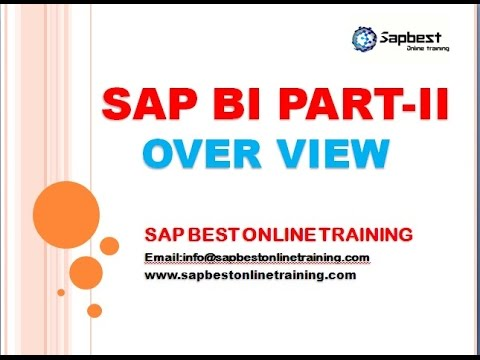SAP BI ONLINE TRAINING | SAP BI TRAINING DEMO VIDEO | SAP BI PROJECT SUPPORT | BI CLASS