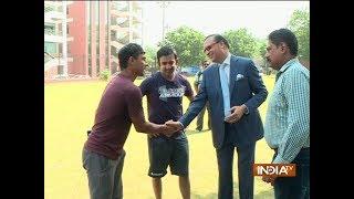 DDCA President Rajat Sharma meets Delhi cricketers ahead of Vijay Hazare Trophy - INDIATV