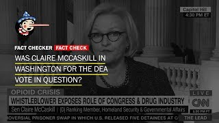 So, Sen. Claire McCaskill was there when the DEA bill was passed - WASHINGTONPOST