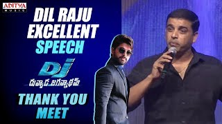 Producer Dil Raju Emotional Speech @ DJ - Duvvada Jagannadham Thank You Meet| AlluArjun, Pooja Hegde - ADITYAMUSIC
