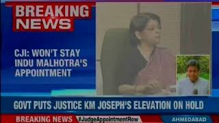 President approves appointment of Indu Malhotra as Supreme Court judge - NEWSXLIVE