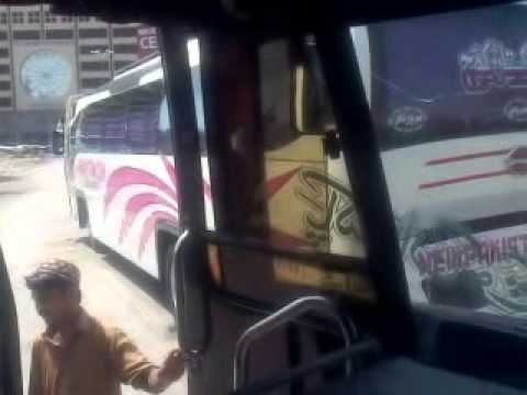 Going mirpurkhas in pakistan coach service daewoo from karachi saddar on 1 may 2013 Segment 0 WMV V9