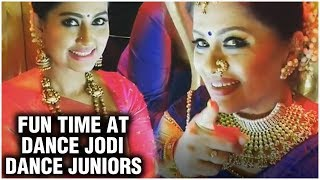 Sneha, Laila & Sudha Chandran Fun Tme At Dance Jodi Dance Juniors Set - RAJSHRITELUGU
