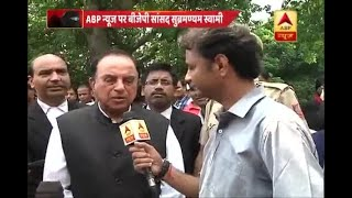 Muslims who claim it as infringement should read the Constitution: Subramanian Swamy on Tr - ABPNEWSTV