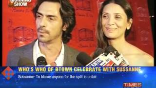 B-town's show of support for Sussanne! - TIMESNOWONLINE