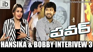 Hansika & Bobby interview about power success 3 - idlebrain.com - IDLEBRAINLIVE