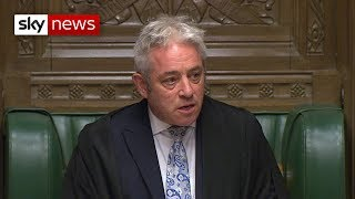 House of Commons speaker labels Theresa May 'deeply discourteous' for delaying Brexit deal vote - SKYNEWS