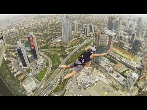Base jumps from Istanbul Sapphire Building - no comment