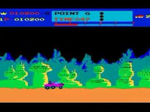 MOON PATROL arcade game by Irem 1982