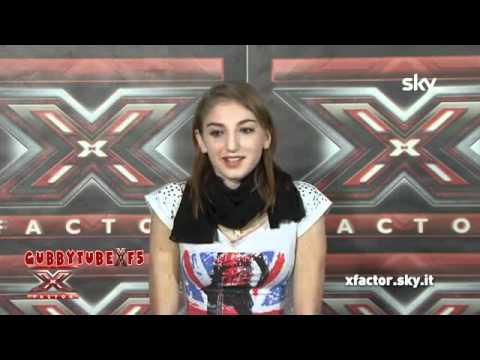 X FACTOR 5,NICOLE TUZII SI PRESENTA (16-24 Donne,Simona Ventura)
