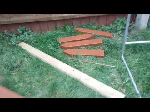 How to secure a garden or allotment polytunnel part 1.