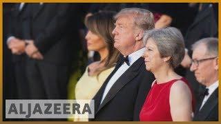 🇺🇸 🇬🇧 Donald Trump arrives in London amid protests and Brexit chaos | Al Jazeera English - ALJAZEERAENGLISH