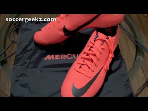 Nike Mercurial Vapor 8 VIII Unboxing - Bright Mango/Metallic Dark Grey/Challenge Red