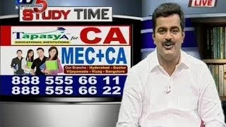Clarify Doubts For CA With Tapasya Academy - Study Time - TV5NEWSCHANNEL