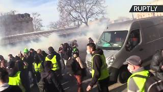Yellow Vest protest in Paris: Week 14 - RUSSIATODAY