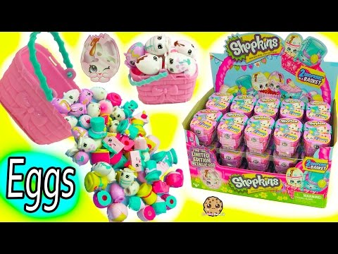 Full Box Shopkins Season 7 Easter Egg Hunt Surprise Mystery Blind Bag Baskets