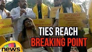 TDP Protests Rock Lok Sabha, TDP - BJP Ties Reach to Breaking Point | Mango News - MANGONEWS