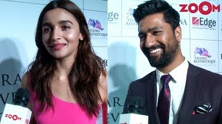 Alia Bhatt talks about starring in Rajamouli's 'RRR' | Vicky on upcoming project & more - ZOOMDEKHO