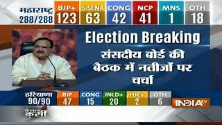 BJP leader Jagat Prakash Nadda addressing PC Live from BJP office - INDIATV