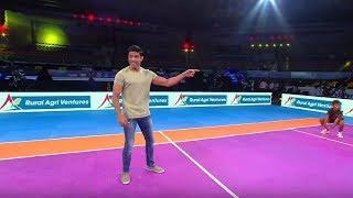 #VivoProKabaddi: Farhan Akhtar tries his hand at Dizzy Kabaddi! - ESPNSTAR