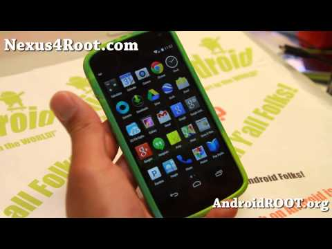 Android 4.4 KitKat ROM with Root for Nexus 4!