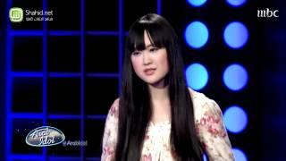 """بالفيديو  يابانية تشارك بـ""""أعطني الناي"""" في الموسم الثالث من """"آراب أيدول"""""""