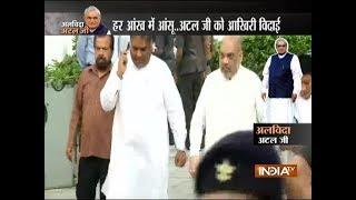 BJP Chief Amit Shah visits Atal ji's residence at Krishna Menon Marg to pay last respects - INDIATV