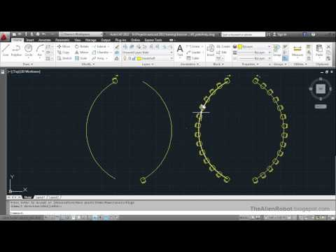AutoCAD 2012 Introduction Training-0905 Path array command
