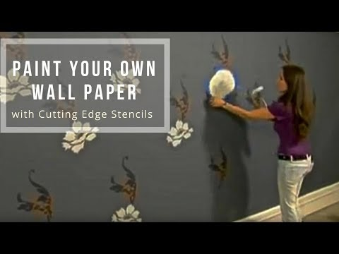 Stencils: Designer Wallpaper Look with Stencils by Cutting Edge Stencils. DIY wall decor.