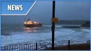 Giant Russian cargo ship runs aground off Cornwall coast - THESUNNEWSPAPER
