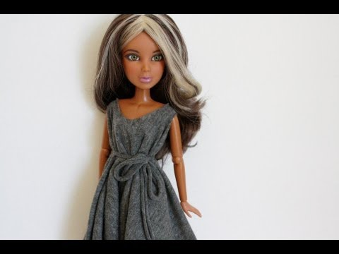 How to Make a NO-Sew Doll Dress: EASY