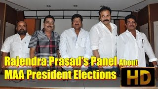 Rajendra Prasad's Panel About MAA President Elections - IGTELUGU