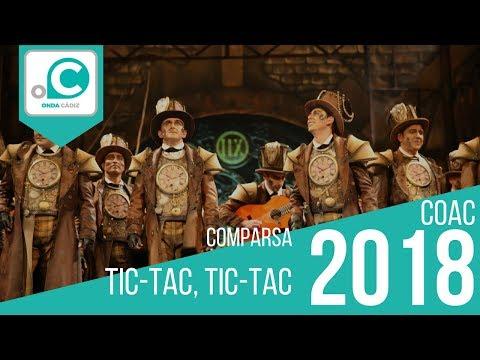 Sesión de Preliminares, la agrupación Tic-tac, tic-tac actúa hoy en la modalidad de Comparsas.