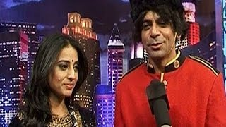 Mahie Gill promotes Gang of Ghosts on a comedy show