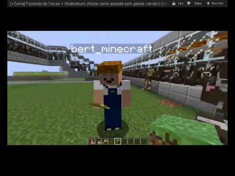 Fazenda de Vacas + Abatedouro (Muita carne assada sem gastar carvão!)   Minecraft   +Uma