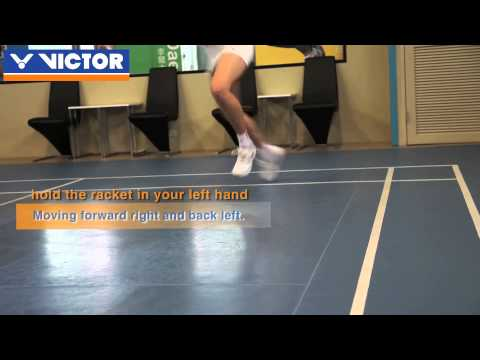 VICTOR badminton coaching - Basic footwork 3 : six point footwork-footwork for moving diagonally