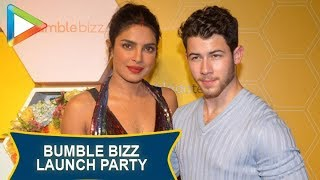 Priyanka Chopra and Nick Jonas at Red Carpet of Bumble's Launch Party - HUNGAMA