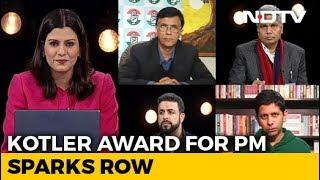 Kotler Award For PM Sparks Row - NDTV
