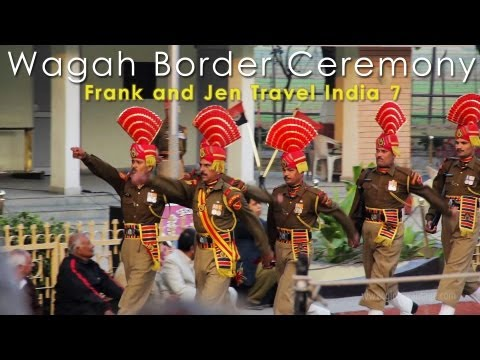 India &amp; Pakistan Full Wagah Border Ceremony - Frank and Jen Travel India, Episode 7