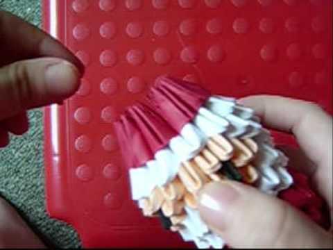 Дед мороз из оригами. Часть 2